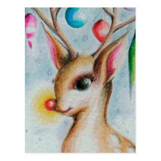 vintagejulafton Bambi Vykort