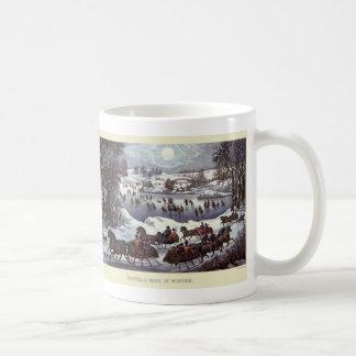 Vintagejulen, vintern Snowscapes och landskap Kaffemugg