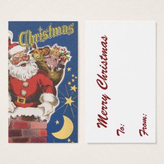Vintagejultomten, Twas natt för jul Visitkort
