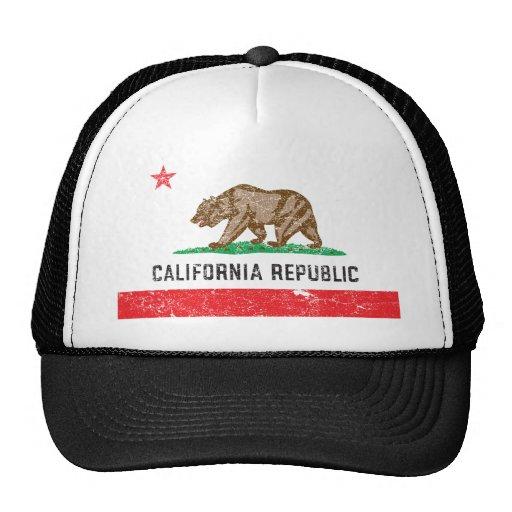 VintageKalifornien flagga Trucker Keps