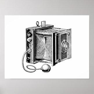 Vintagekamera - antik kamerafotografi poster