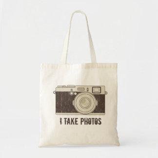 Vintagekanfastotot hänger lös kameran - JAG TAR Kasse