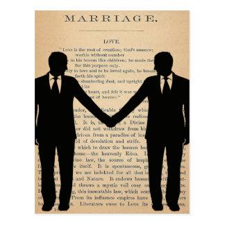 Vintagekärlek & giftermål glada gifta sig vykort