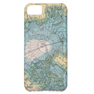 Vintagekarta av arktisken iPhone 5C fodral