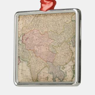 Vintagekarta av Asien (1799) Julgransprydnad Metall