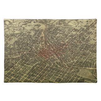 Vintagekarta av Atlanta (1892) Bordstablett