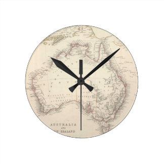Vintagekarta av Australien (1848) Rund Klocka