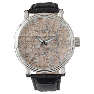 Vintagekarta av Bruges (1905) Armbandsur