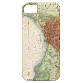 Vintagekarta av Burlington Vermont (1763) iPhone 5 Skydd