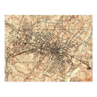 Vintagekarta av Charlottesville Virginia (1960) Vykort