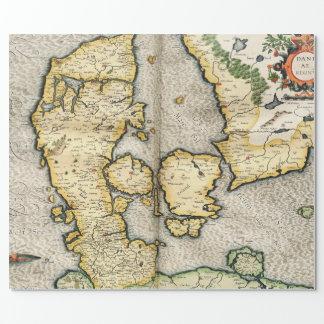 Vintagekarta av Danmark (1596) Presentpapper