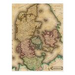 Vintagekarta av Danmark (1831) Vykort