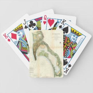 Vintagekarta av den San Diego fjärden (1857) Spelkort
