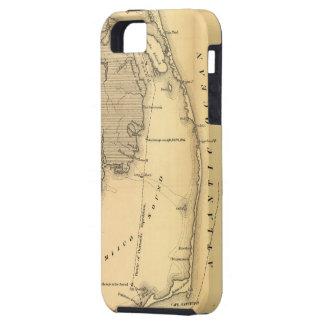 Vintagekarta av den yttre banker (1862) iPhone 5 Case-Mate fodral