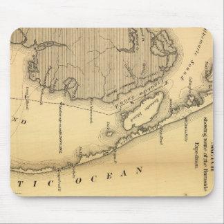 Vintagekarta av den yttre banker (1862) musmatta