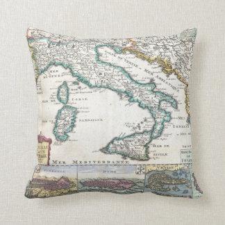 Vintagekarta av italien (1706) kudde