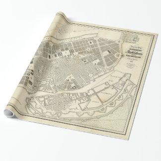 Vintagekarta av KöpenhamnDanmark utvidgningar Presentpapper