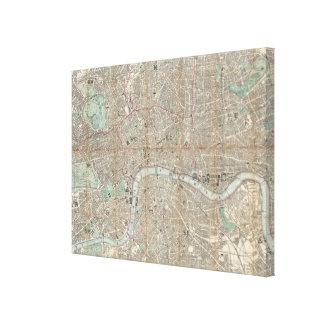 Vintagekarta av London (1890) Canvastryck