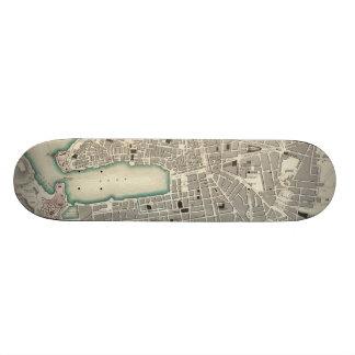 Vintagekarta av Marseille frankriken (1840) Skateboard Bräda 20,5 Cm