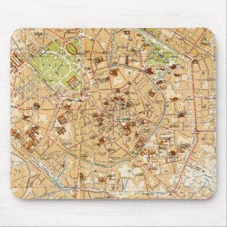 Vintagekarta av Milan Italien (1914) Musmatta
