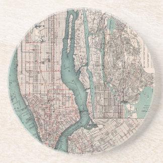 Vintagekarta av New York (1897) Underlägg