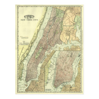 Vintagekarta av New York City Manhattan Vykort