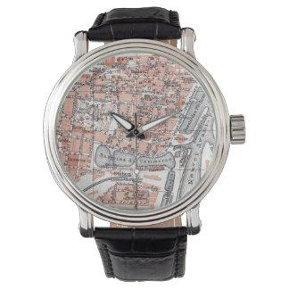 Vintagekarta av Ostend Belgien (1905) Armbandsur