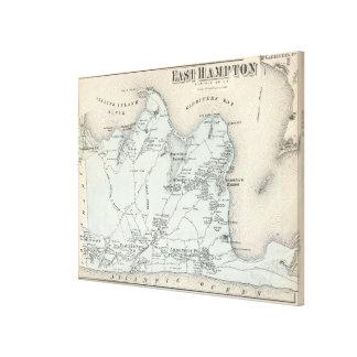 Vintagekarta av östliga Hampton New York (1873) Canvastryck