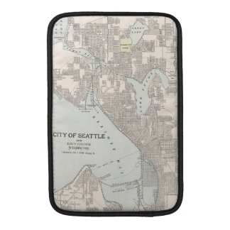 Vintagekarta av Seattle Washington (1901) MacBook Air Sleeve