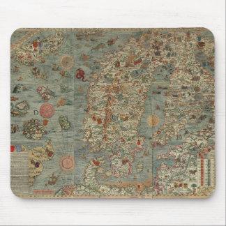 Vintagekarta av skandinavien musmatta