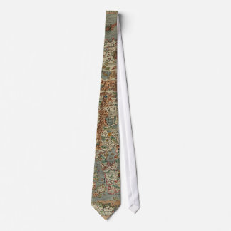 Vintagekarta av skandinavien slips