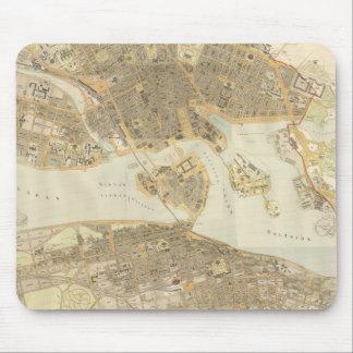 Vintagekarta av Stockholm (1899) Musmatta