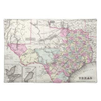 Vintagekarta av Texas (1855) Bordstablett
