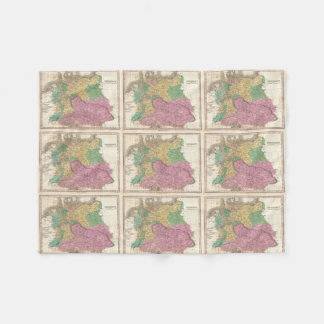 Vintagekarta av Tysklandet (1827) Fleecefilt