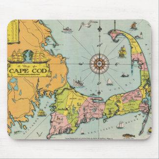 Vintagekarta av uddtorsk musmatta