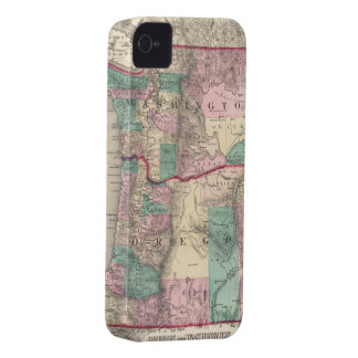 Vintagekarta av Washington och Oregon (1875) iPhone 4 Skydd