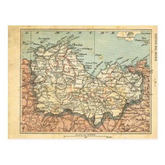 Vintagekarta Frankrike Cotes du Nord Vykort