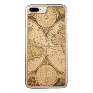 Vintagekartaiphone case carved iPhone 7 plus skal