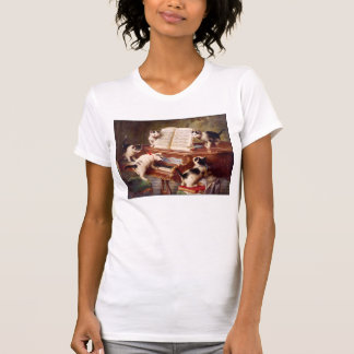 Vintagekattkonst:  Kattunge högläsning Tshirts