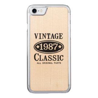 Vintageklassiker 1987 carved iPhone 7 skal