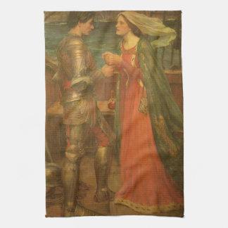 Vintagekonst, Tristan och Isolde vid waterhousen Kökshandduk