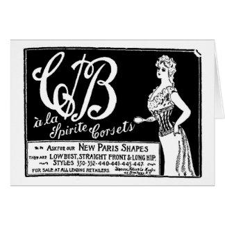 vintagekorsettannonsering 1900 hälsningskort