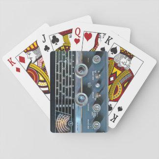 Vintagekort vinkar radiosände leka kort casinokort