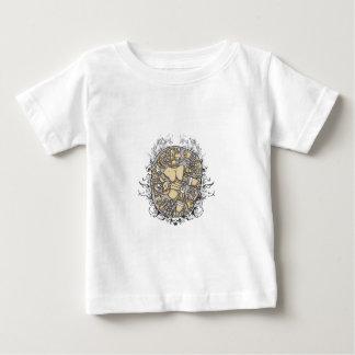 vintagekroppsdelar tillsammans t-shirts