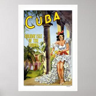 VintageKubaaffisch Poster