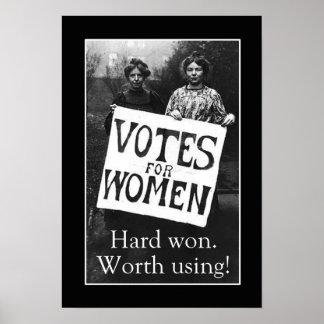 Vintagekvinnor röstar affischen poster