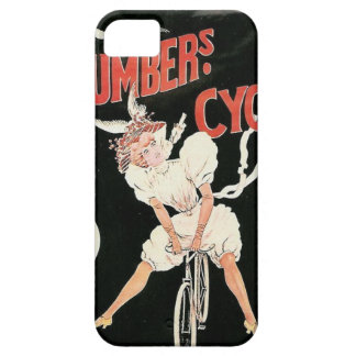 Vintagekvinnor som rider cykeln iPhone 5 cases