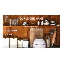 Vintagelagret/bakar shoppar visitkortar