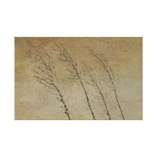 Vintagelandserie: 3 grässtjälkar canvastryck
