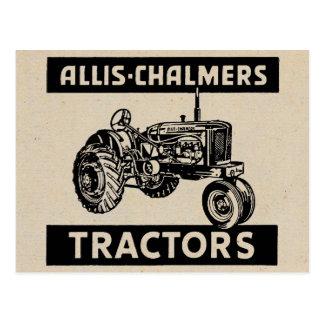Vintagelantgårdtraktor Vykort